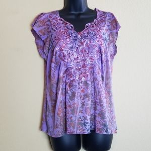 One World Live and Let Live Purple Top